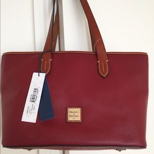 Dooney & Bourke Large Leather Cranberry Tote, NWT